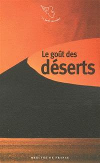 Le goût des déserts