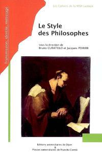 Le style des philosophes