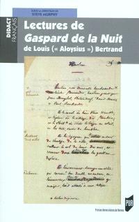 Lectures de Gaspard de la nuit de Louis (Aloysius) Bertrand