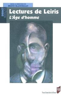 Lectures de Leiris : L'âge d'homme