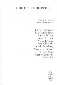 Lire et relire Proust