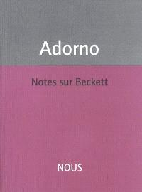 Notes sur Beckett