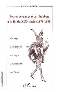 Petites revues et esprit bohème à la fin du XIXe siècle (1878-1889) : Panurge, Le chat noir, La vogue, Le décadent, La plume