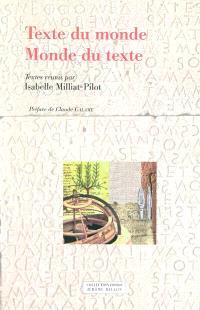 Texte du monde, monde du texte