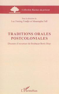 Traditions orales postcoloniales : discours d'ouverture de Boubacar Boris Diop