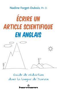 Ecrire un article scientifique en anglais : guide de rédaction dans la langue de Darwin