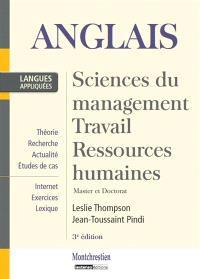 Anglais : sciences du management, travail, gestion, ressources humaines : master et doctorat