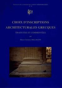 Choix d'inscriptions architecturales grecques