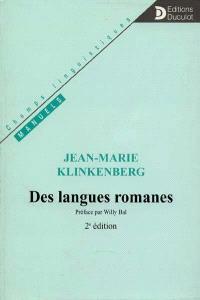 Des langues romanes : introduction aux études de linguistique romane