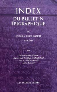 Index du bulletin épigraphique de J. et L. Robert, 1978-1984