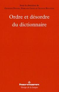 Ordre et désordre du dictionnaire